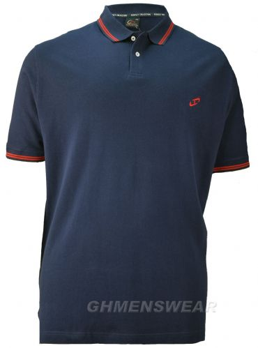 PERFECT COLLECTION TIPPED POLO SHIRT - NAVY
